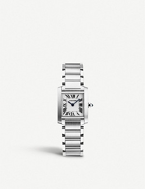 CARTIER Tank Fran?aise stainless steel watch