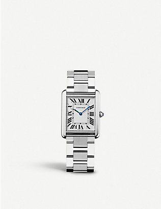 CARTIER: Tank Solo stainless steel watch