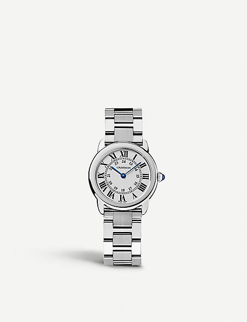 CARTIER: Ronde Solo de Cartier stainless steel watch