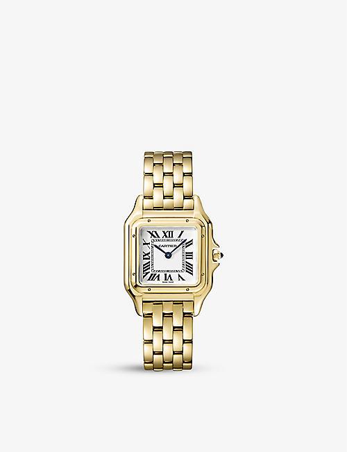 96d2dcbdaa1b CARTIER Panthère de Cartier small 18ct yellow-gold and sapphire watch