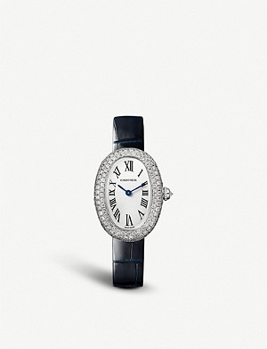 CARTIER Baignoire 18ct white-gold and diamond watch