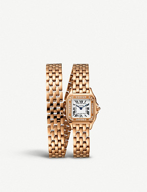 CARTIER Panthère de Cartier 18ct rose-gold and diamond watch