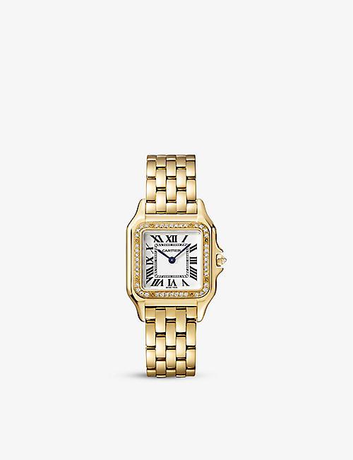 30fd6efacaba CARTIER Panthère de Cartier 18ct yellow-gold and diamond watch