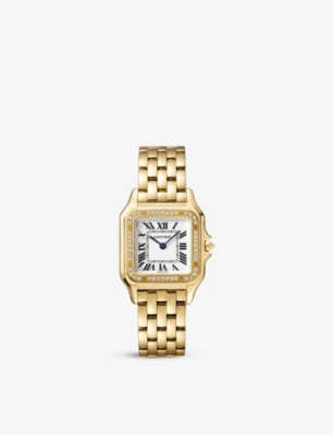 CARTIER Panthère de Cartier 18ct yellow-gold and diamond watch