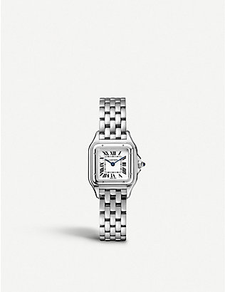 CARTIER: Panthère de Cartier small stainless steel watch