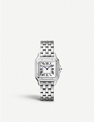 CARTIER: Panthère de Cartier medium stainless steel watch