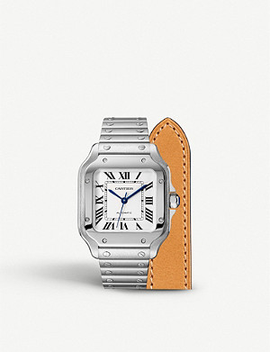 CARTIER Santos de Cartier stainless steel automatic watch