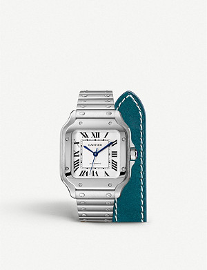CARTIER Santos 2 strap stainless steel watch
