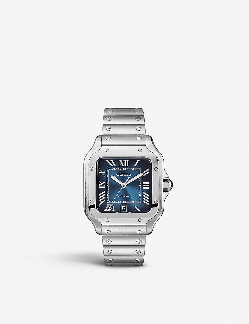 eefe959a7 CARTIER - WSSA0013 Santos de Cartier stainless steel watch ...