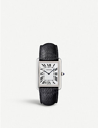 CARTIER: WSTA0028 Tank Solo leather and steel case