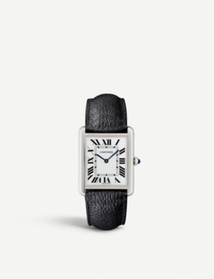 CARTIER WSTA0028 Tank Solo leather and steel case