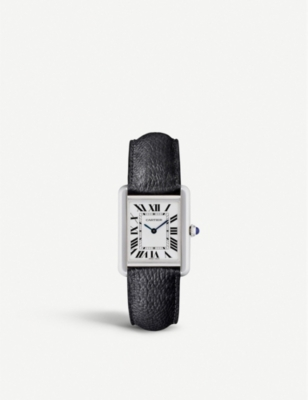 6c9512818d78d CARTIER - Tank Solo steel and leather watch