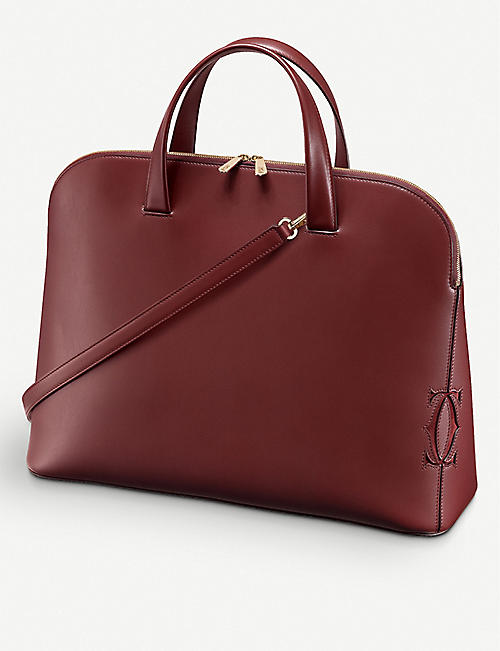 CARTIER: Must-C medium calfskin tote bag