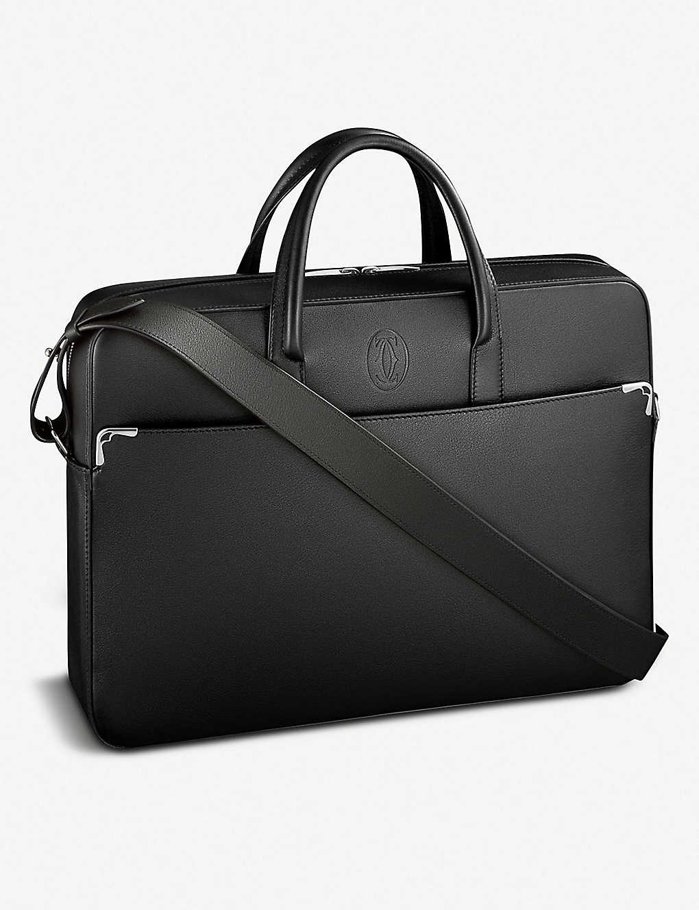 CARTIER: Must de Cartier leather document holder bag