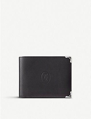 CARTIER: Must de Cartier bi-fold leather wallet