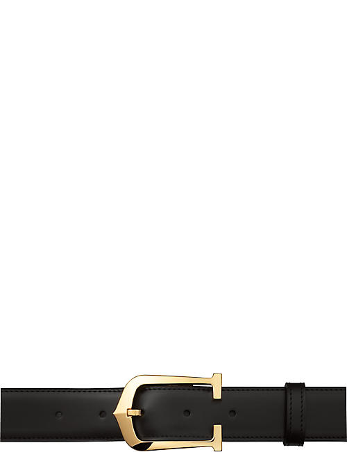 CARTIER Elongated C reversible buckle belt