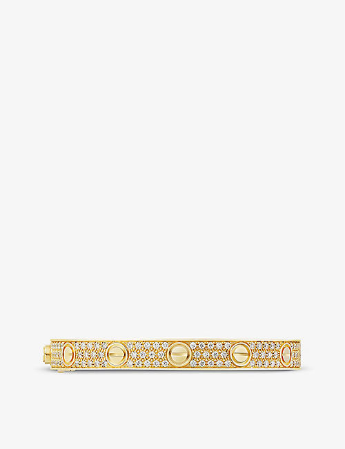 CARTIER: LOVE 18ct yellow-gold and 1.99ct brilliant-cut diamond bracelet