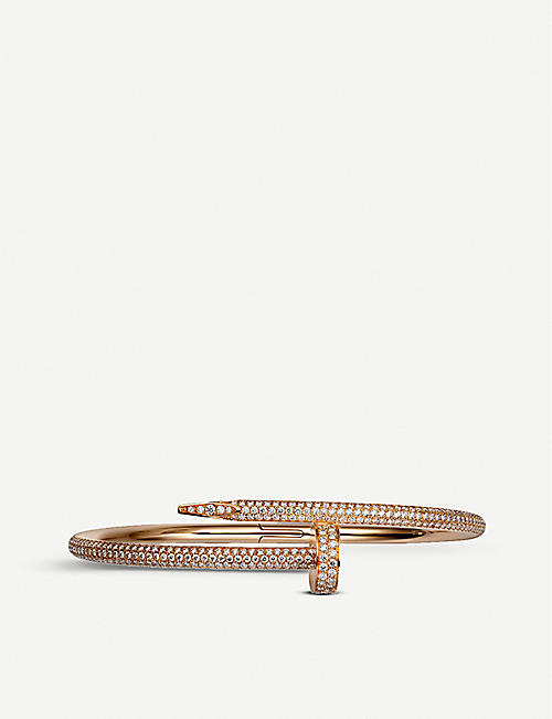 CARTIER: Juste un Clou 18ct rose-gold diamond-paved bracelet