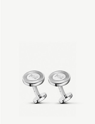 CARTIER: C de Cartier palladium plated sterling silver cufflinks