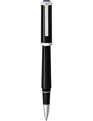 CARTIER: Santos-Dumont palladium and resin rollerball pen