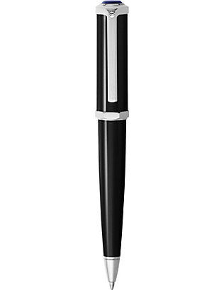 CARTIER: Santos-Dumont palladium and resin ballpoint pen