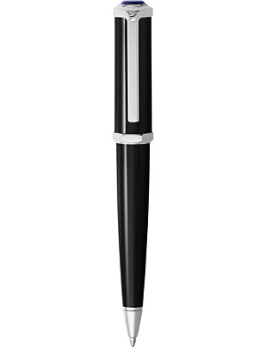 CARTIER Santos-Dumont palladium and resin ballpoint pen