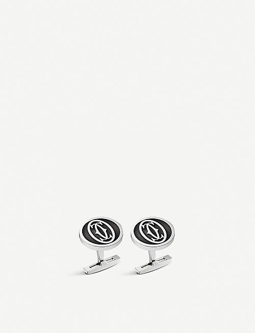 CARTIER Large logo decor cufflinks