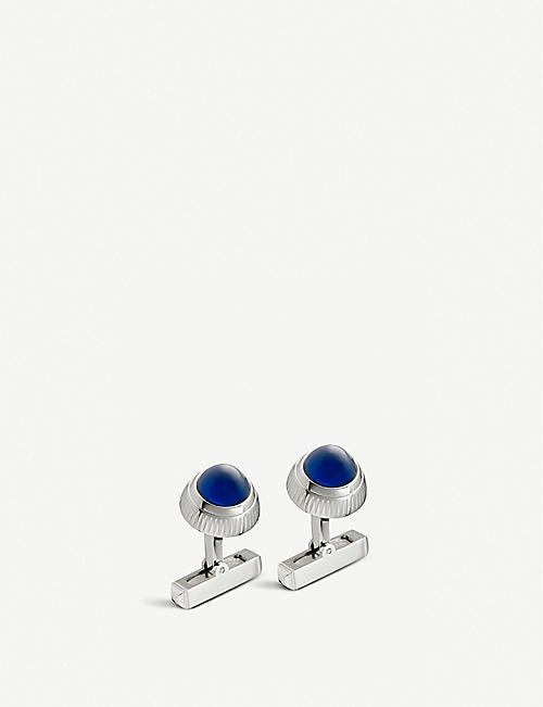 CARTIER: Santos de Cartier watch crown decor cufflinks