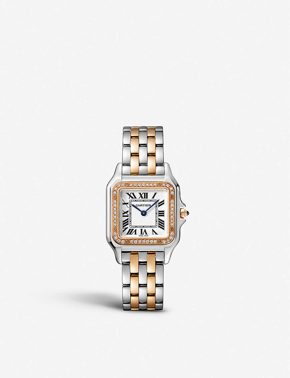 CARTIER: W3PN0007 Panth?re de Cartier 18ct rose-gold, stainless steel and diamond watch