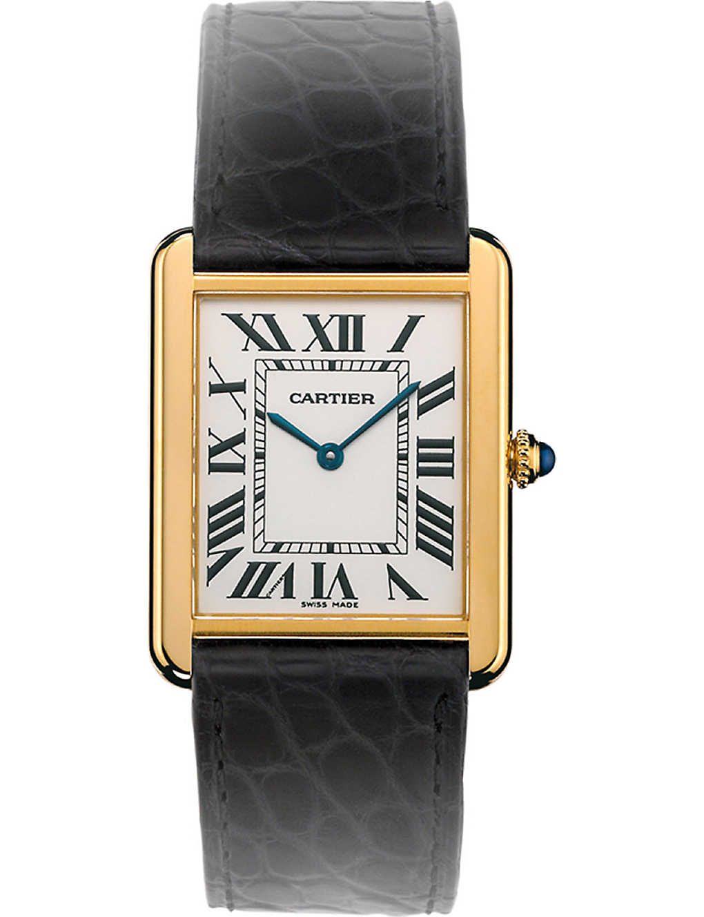 CARTIER - Tank Solo 18ct yellow-gold and steel large watch