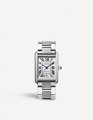 CARTIER: Tank Solo stainless steel extra-large watch