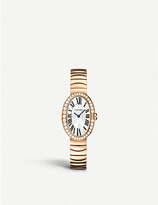 CARTIER: Baignoire 18ct pink-gold small watch