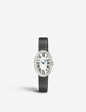 CARTIER Baignoire 18ct white-gold and diamond small watch