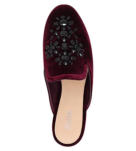 MICHAEL MICHAEL KORS Velvets Edie embellished velvet slippers