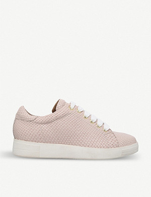 CARVELA Jaguar snake-embossed leather trainers