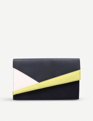 MISS KG Heidi colour-block suedette clutch bag