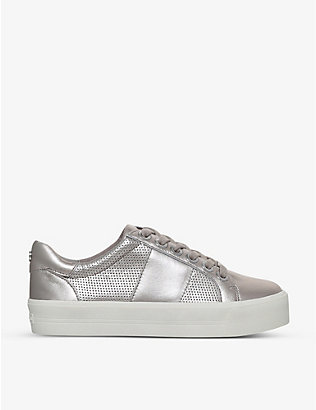 CARVELA: Lint metallic leather trainers