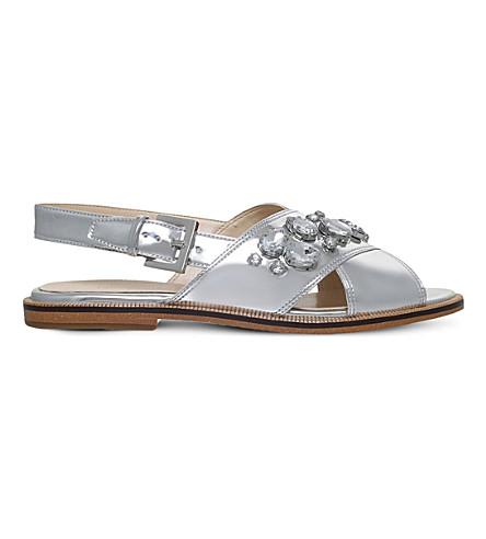 df711534d NINE WEST Ostina3 gemstone-embellished sandals (Silver