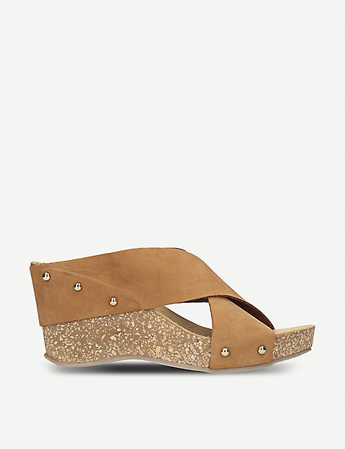 134cccdb5f5 CARVELA COMFORT Sooty suede and cork wedge sandals