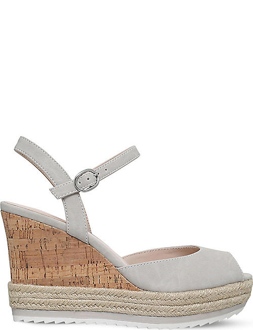 2ac86231901 NINE WEST Debi peep-toe cork wedges