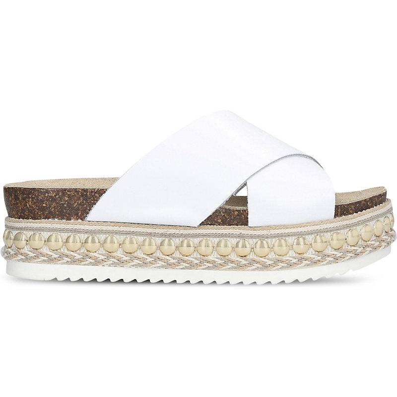 CARVELA | Kake Flatform Leather Sandals | Goxip