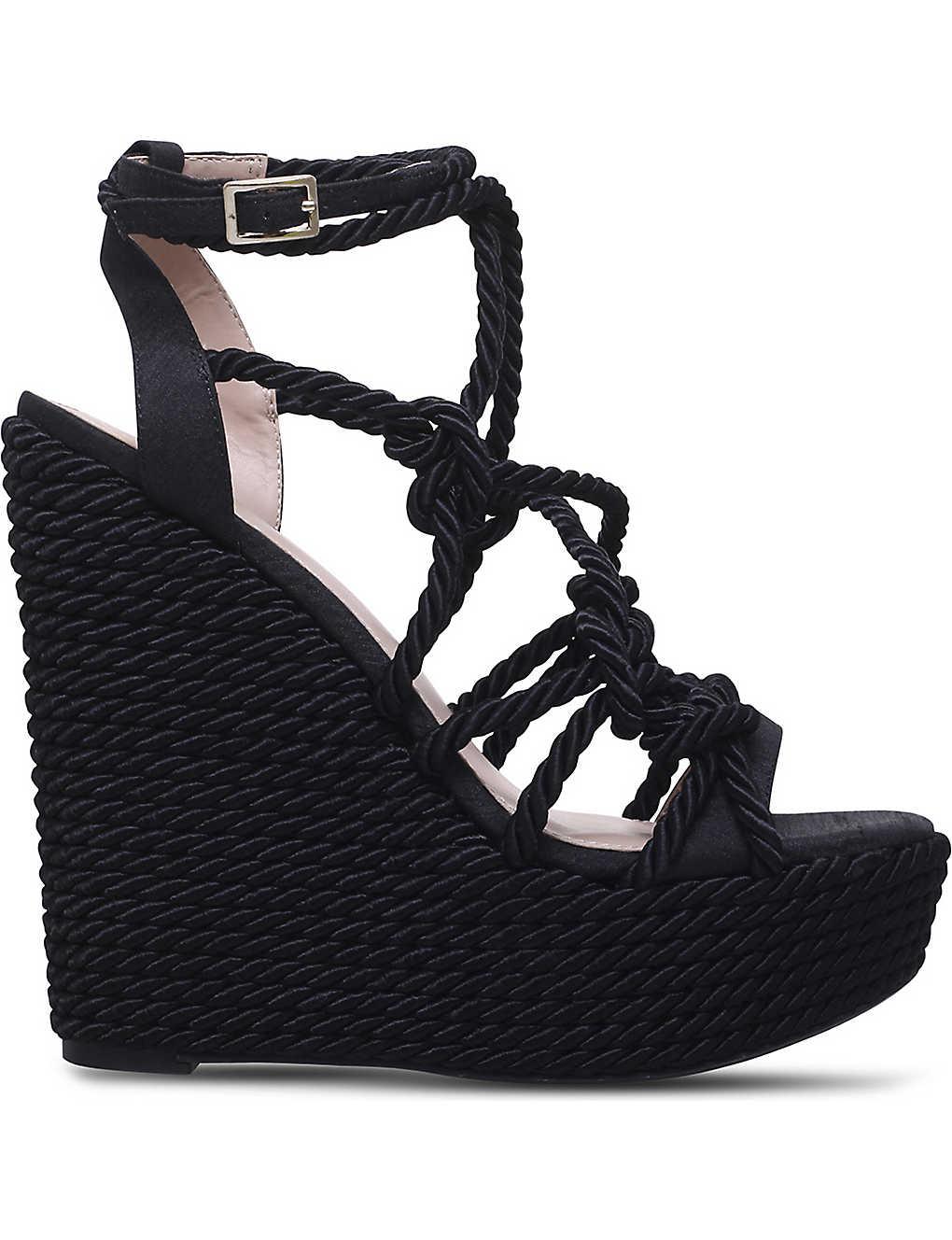 f765f23c2 KG KURT GEIGER - Notty rope detail wedge sandals