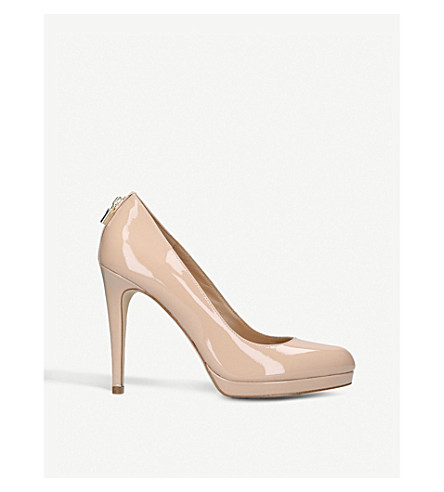Antoinette Patent Leather Heeled Courts, Pale Pink