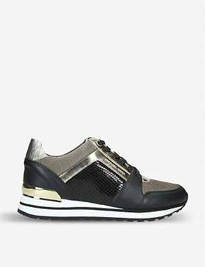 MICHAEL MICHAEL KORS Billie panelled leather trainers