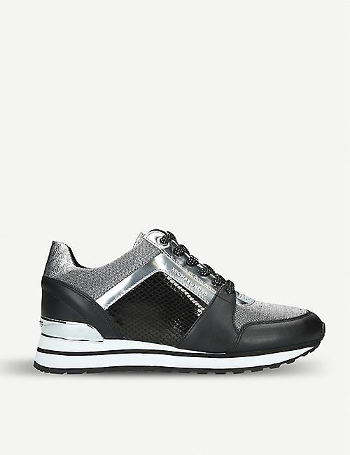 853f70f7570e MICHAEL MICHAEL KORS Billie panelled leather trainers