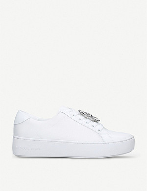 MICHAEL MICHAEL KORS Poppy crystal-embellished canvas trainers