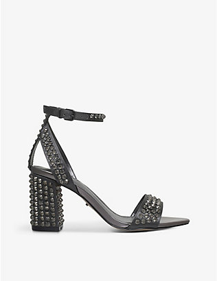 CARVELA: Gianni stud-embellished satin sandals
