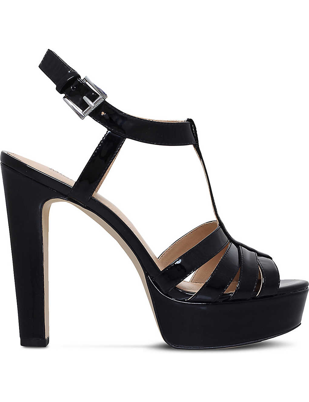 185363ad2f2 MICHAEL MICHAEL KORS - Catalina patent leather platform sandals ...
