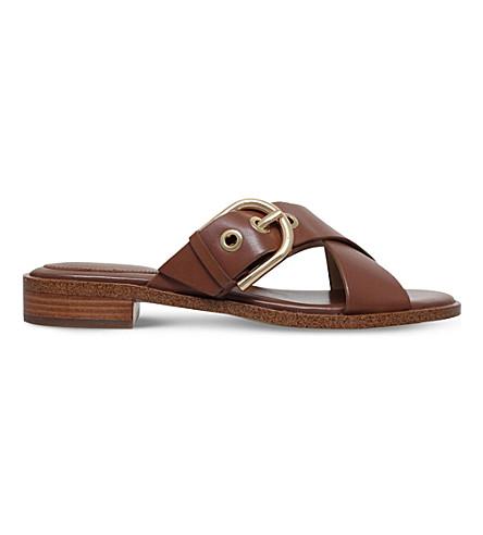 9aebafa2008 MICHAEL MICHAEL KORS Cooper Vachetta leather sandals (Tan