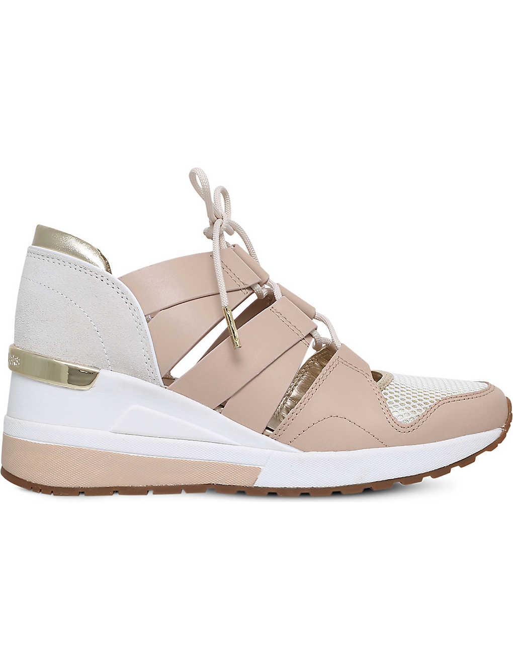 067918523ac3 MICHAEL MICHAEL KORS - Beckett cut-out leather trainers | Selfridges.com